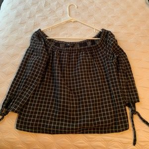 Madewell off the shoulder shirt